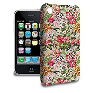 Phone Case For Apple iPhone 3/3GS - Bright Vintage Flowers Back Slim