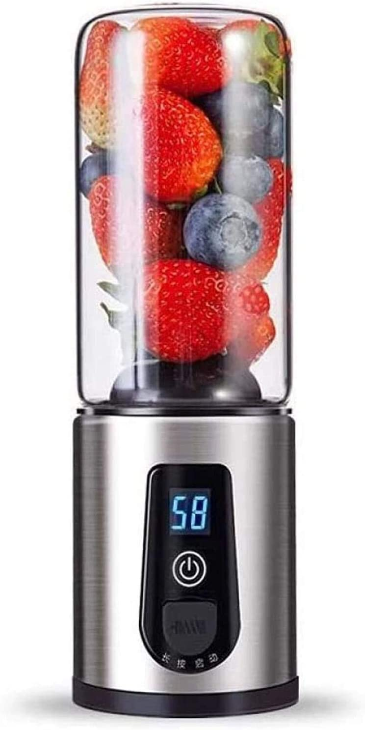 LCD Juicer Juice Machine Mini Portable Home Fried Mini-USB Charging Port Juicer Cup (Color : -, Size : -)