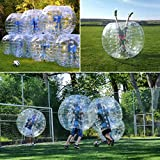 Inflatable Bumper Bubble Soccer Ball Dia 1.2M 4ft Human Hamster Ball for Adults or kids (White 1.5M)