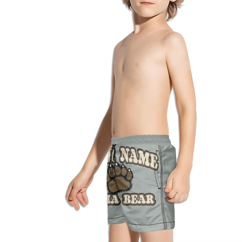Boys Swim Trunks Free Hugs Form A Bear Quick Dry Bathing Suits Beach Board Shorts
