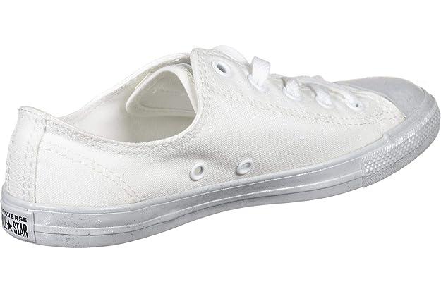 Chucks 563475C Weiss Chuck Taylor All Star Dainty OX White White Pure Platinum