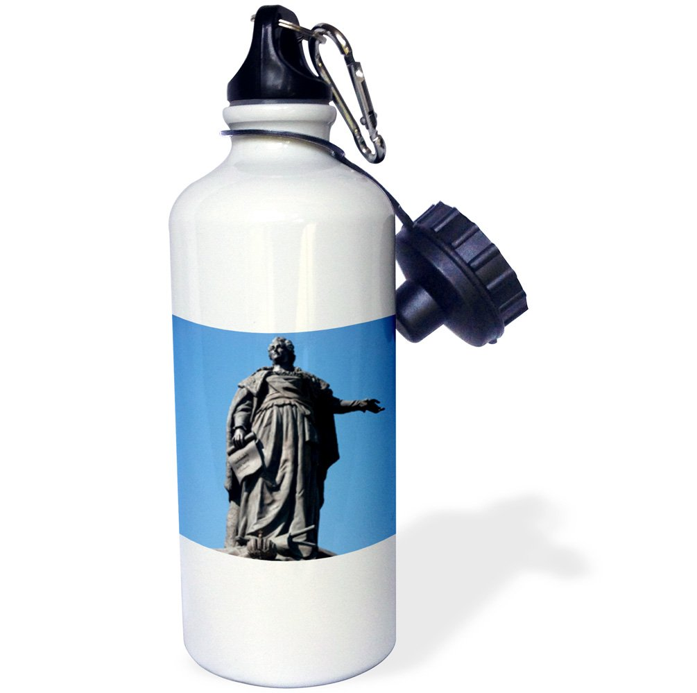3dRose wb_75246_1''Statue of Catherine the Great, Odessa, Ukraine-AS43 DBR0092 Dave Bart ruff'' Sports Water Bottle, 21 oz, White by 3dRose