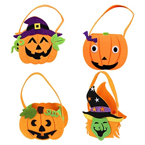 BESTONZON Bonitas bolsas de Halloween para niños, bolsa de ...