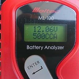 Amazon Co Jp カスタマーレビュー メルテック バッテリー診断機 Ledデジタル表示 Dc12v 診断内容 Cca値 Ca値 Mw バッテリー状態 充電容量表示 Meltec Ml 100