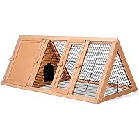 Triangle Rabbit Hutch Chicken Coop Guinea Pig Ferret Cage Hen Chook House Run L