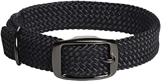 product image for Mendota Pet Double Braid Collar - Black Metallic - Dog Collar - Made in The USA - Black , 1 in x 21 in Standard