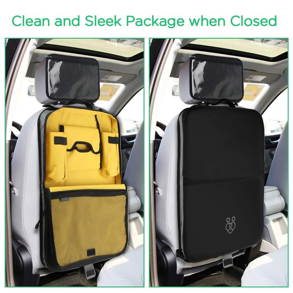 soporte para tabletas 2 bolsillos para tazas y botellas tejido de calidad bolsillo con abertura para pa/ñuelos Parenthings Organizador para el asiento trasero del coche para ni/ños: dise/ño original