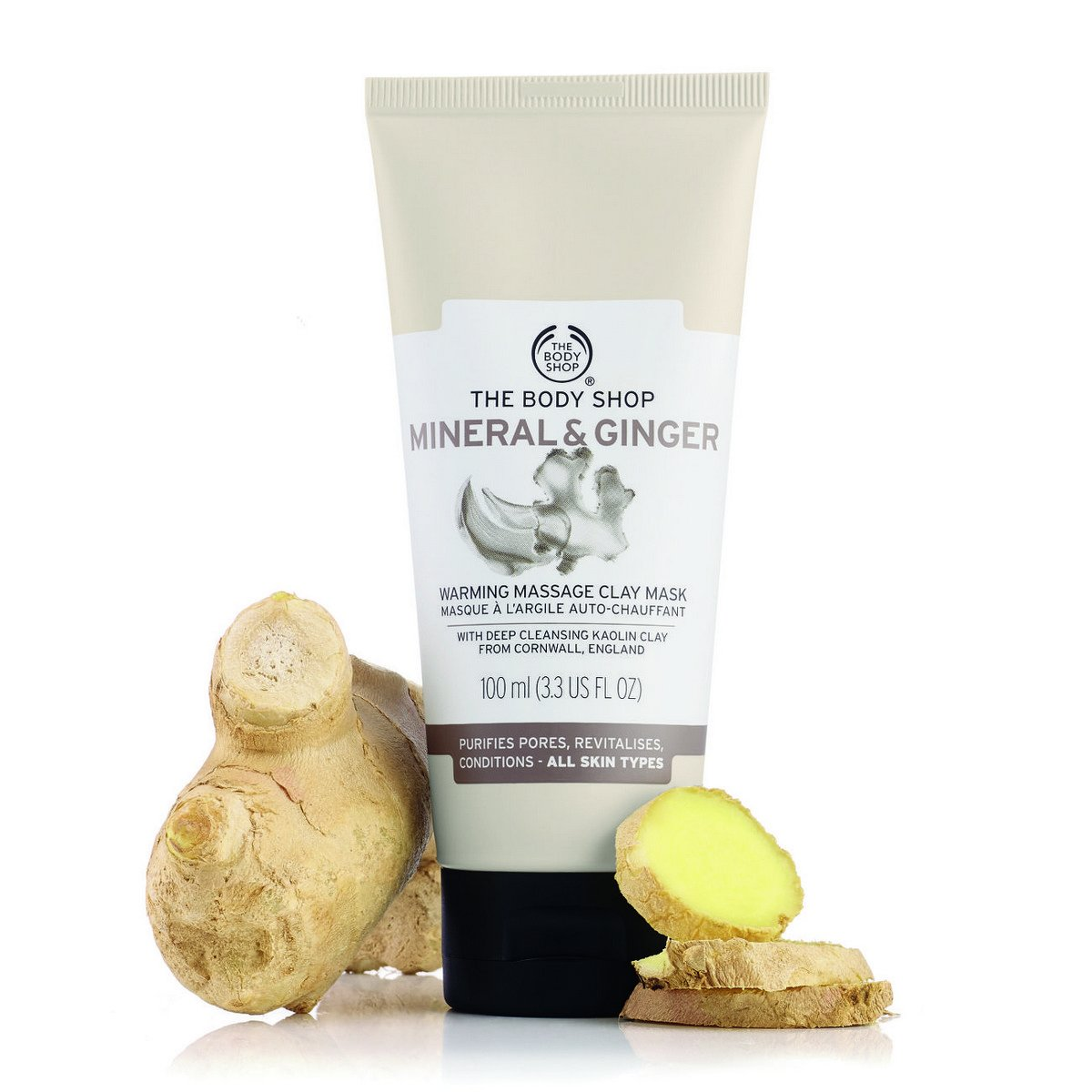 The Body Shop Mineral & Ginger Warming Massage Clay Mask
