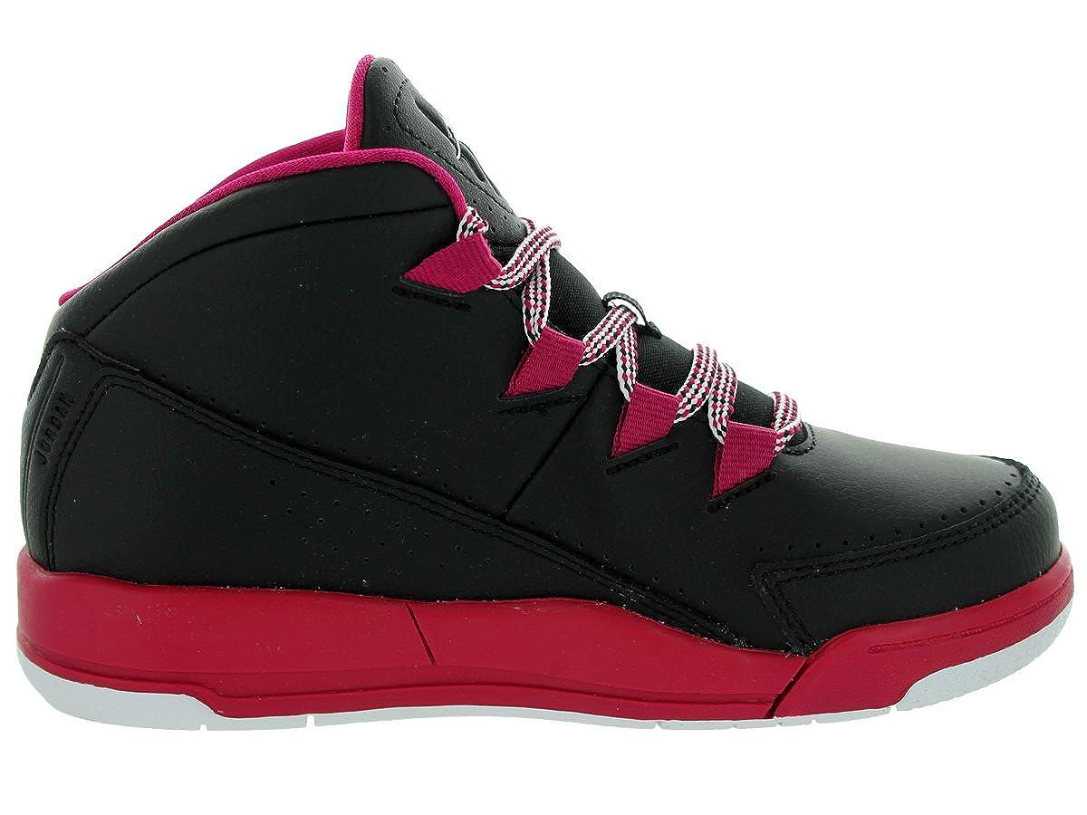 Nike Jordan Kids Jordan Deluxe Gp Black//White//Sport Fuchsia Basketball Shoe 1.5 Kids US