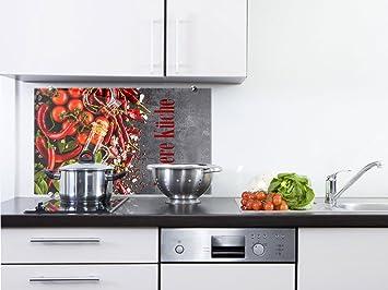 graz-design Spritzschutz Glas für Küchenrückwand/Herd   Bild-Motiv ...