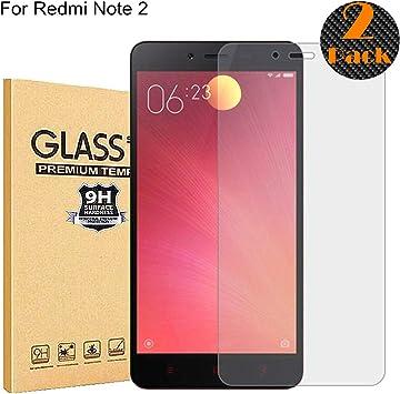 RUIST Protector Pantalla Xiaomi Redmi Note 2,[2-Pack] 9H Dureza ...