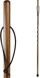 product image for Brazos Trekking Pole Hiking Stick for Men and Women Handcrafted of Lightweight Wood and made in the USA, Brown Oak, 48 Inches