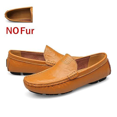 Tamaño Grande 36~50 Zapatos de Cuero Genuino Hombre Mocasines Suaves Marca de Moda Hombre