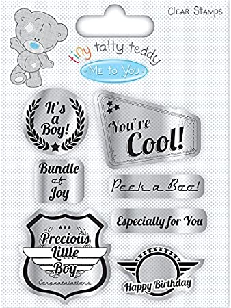 ME TO TOU TINY TATTY TEDDY BOY CLEAR STAMPS STANDING FOR CARDS AND CRAFTS