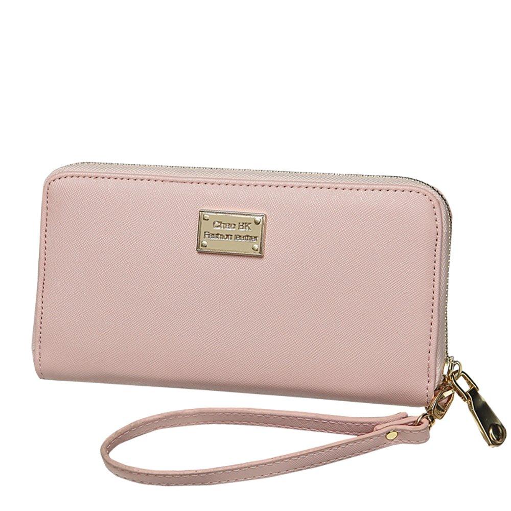 Long style zipper Wallet, Ladies Purse, Women's Handbag (Pink)