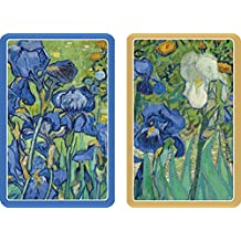 Caspari - Double Deck of Bridge Playing Cards, Jumbo Type, Van Gogh Irises