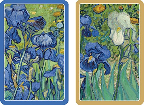 Caspari - Double Deck of Bridge Playing Cards, Jumbo Type, Van Gogh Irises