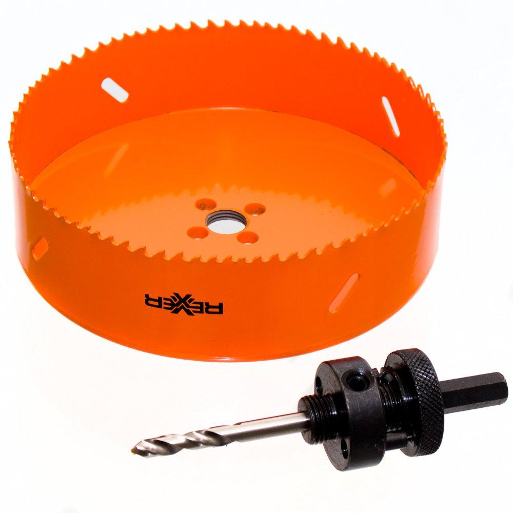 Ø 105 mm HSS BiM Lochsäge Bohrkrone mit Zentrierbohrer für Metall Holz Inox Rexxer