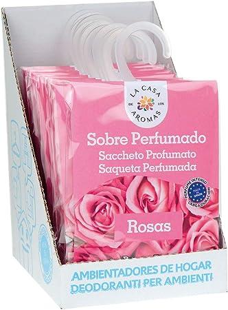Set de 12 Sobres Perfumados, Bolsitas Aromáticas Olor Rosas, Saquitos para el Armario, Cajón, Ropa de Bebé, Zapatero, Maleta: Amazon.es: Hogar
