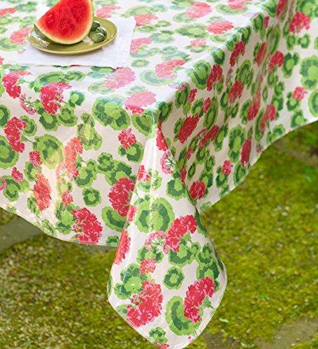 Oilcloth Tablecloth dia Round Geranium