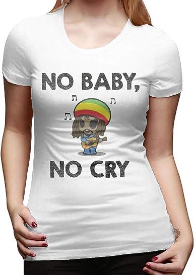 Camiseta básica de algodón de Manga Corta para Mujer, diseño de ...