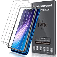 LK Protector de Pantalla para Xiaomi Redmi Note 8 Cristal Templado, [3 Unidades] [9H Dureza] [Equipado con Marco de posicionamiento] [Resistente a Arañazos] Vidrio Templado Screen Protector