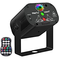 D&I Laser Lights,DJ Disco Stage Party Lights Sound Activated RGB Led Projector Time Function with Remote Control for…