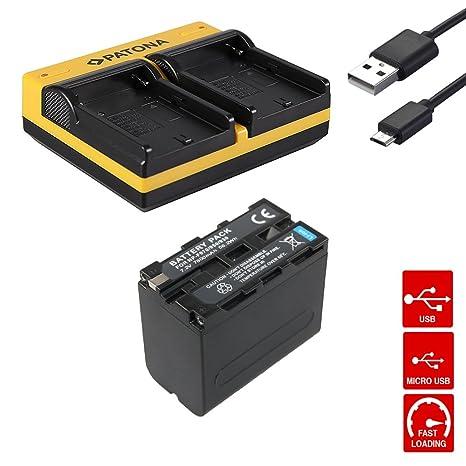 Dual Cargador de batería + Premium 7800 mAh NP-F970 NPF970 ...