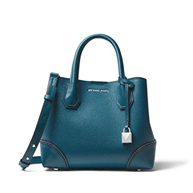 e582e5ecc MICHAEL Michael Kors Mercer Gallery Small Pebbled Leather Satchel in Luxe  Teal