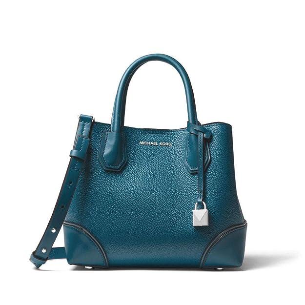 024bdd01355920 MICHAEL Michael Kors Mercer Gallery Small Pebbled Leather Satchel in Luxe  Teal: Handbags: Amazon.com
