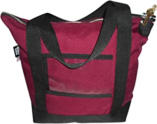 product image for Deposit Bag,Bank,documents or Courier Bag with Pop Lock &2 Keys, Made in USA (Maroon)