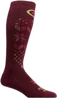 product image for Farm to Feet Women's Alpine Lightweight Ski Socks, Zinfandel, Medium