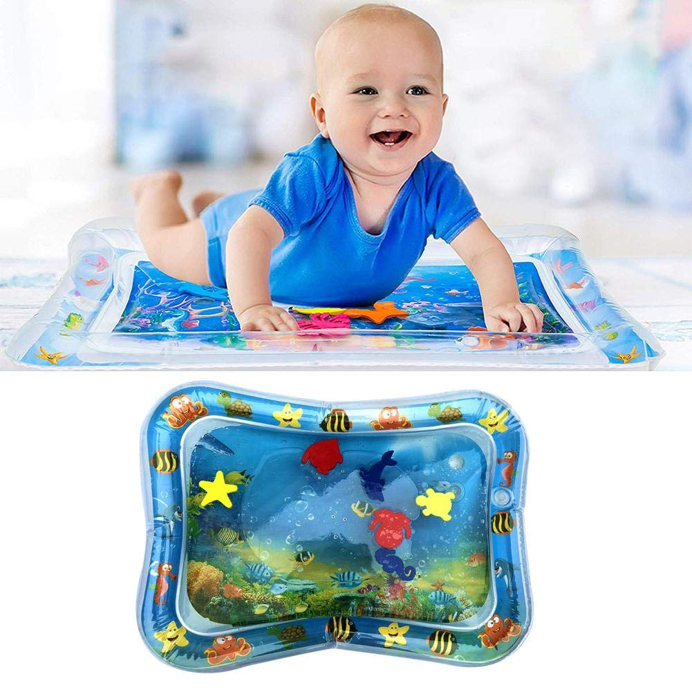 Lijuan Qin Baby Inflatable Patted Pad, Funny Water Cushion Pat Pad, Prostrate Water Filled Play Mat for Kids Boys Girls