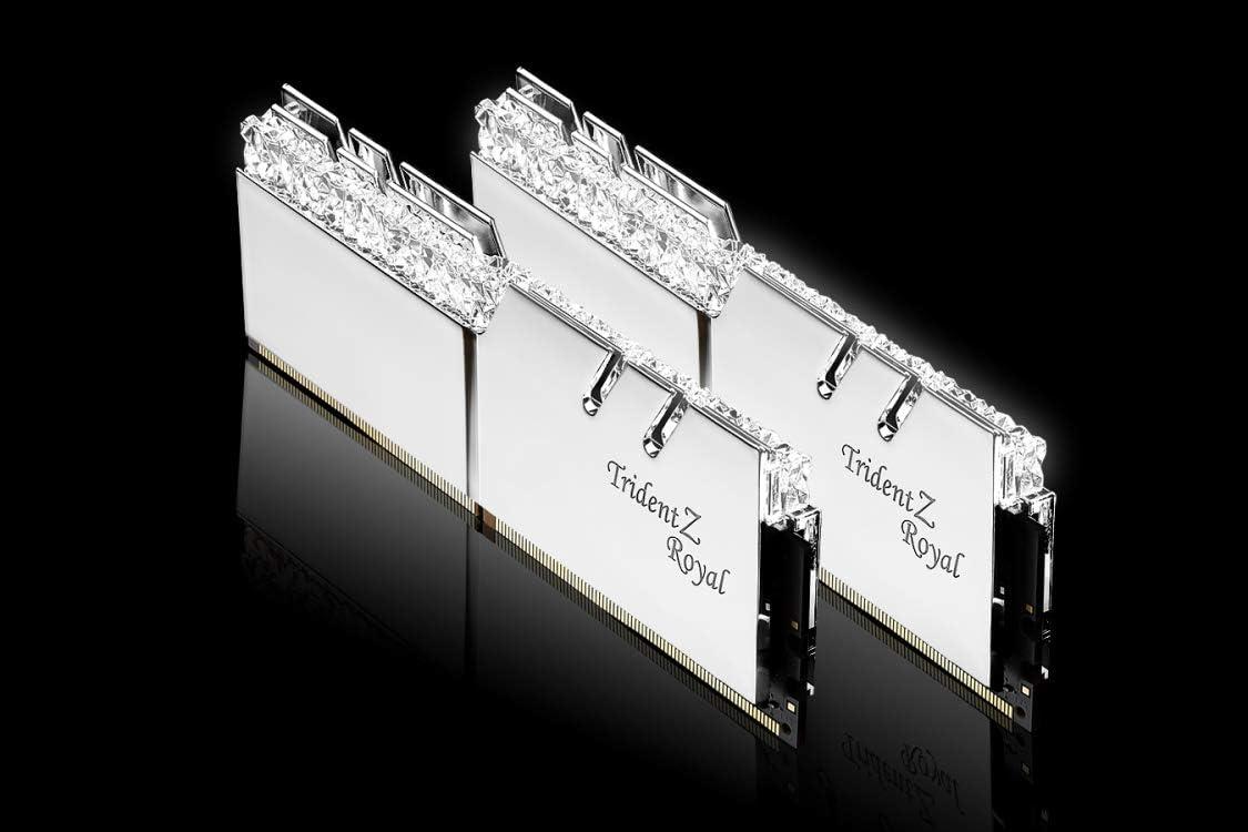 2x8GB 16GB G.Skill DDR4 Trident Z Royal Silver 3200Mhz PC4-25600 CL16 1.35V Dual Channel Kit