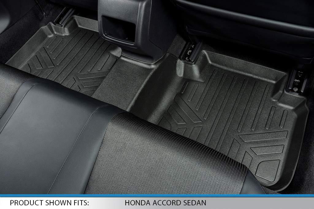 SMARTLINER Floor Mats 2 Row Liner Set Black for 2018 Honda Accord Sedan