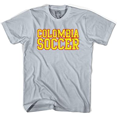 14ae2852714 Amazon.com: Colombia Soccer Nations World Cup T-shirt, Silver, Adult ...
