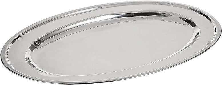 Steel Oval Platter Buffet XL Serving Tray