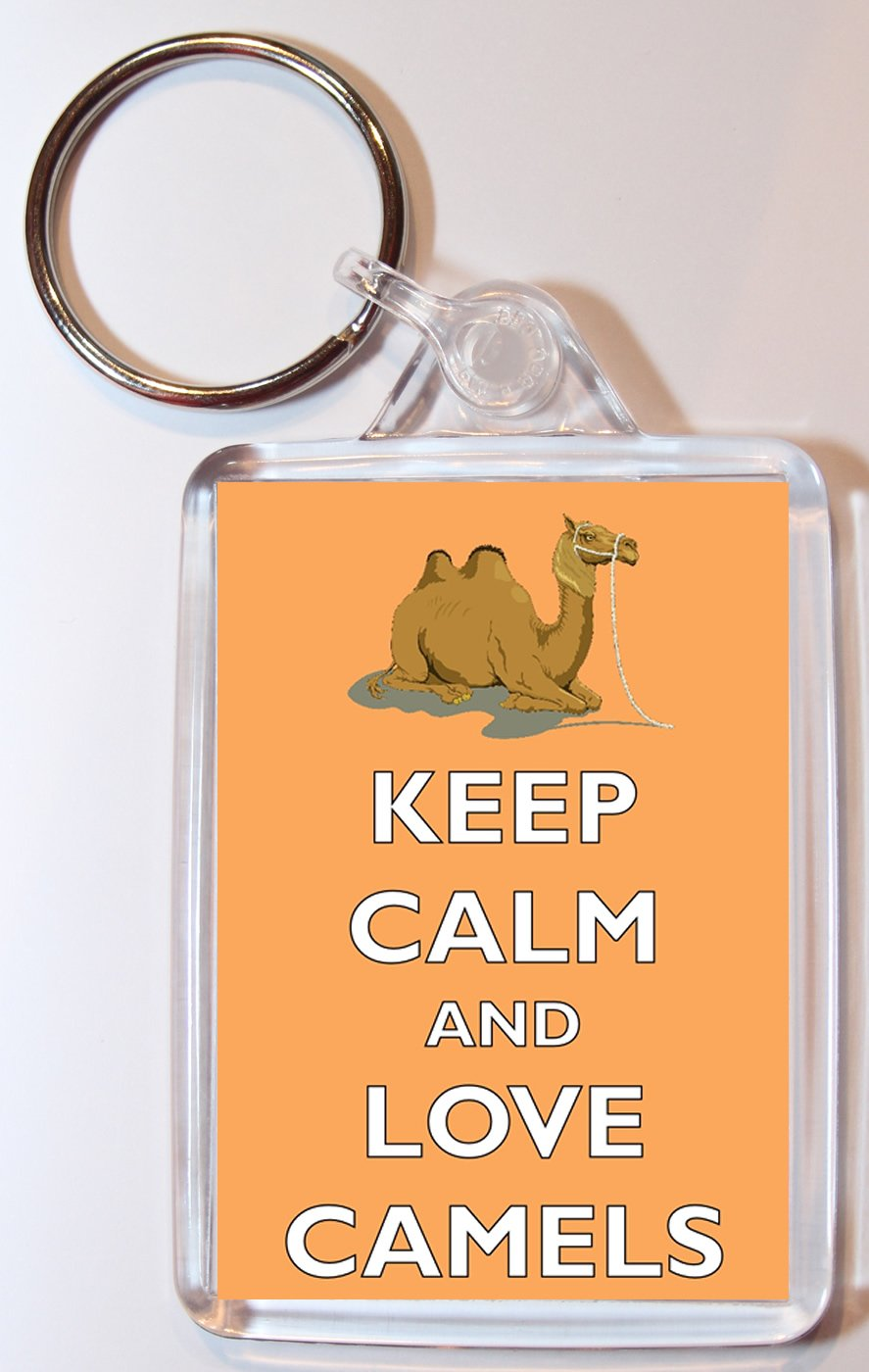 Amazon.com: Keep Calm And Love camellos – doble cara llavero ...