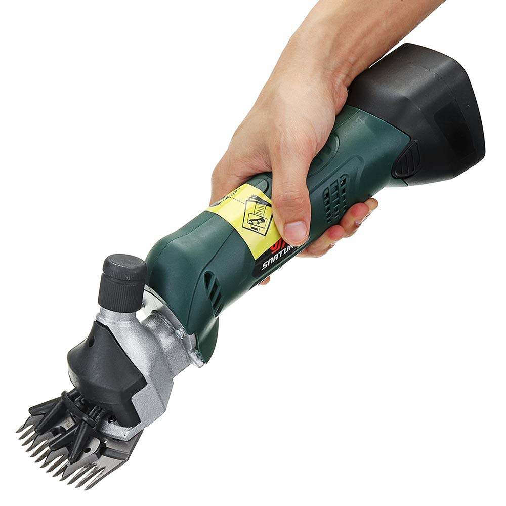 Greena Kuaker Horse Hair Clippers, Wool Clippers, Pet Shear Low Noise Heavy Duty Shears Charging Used in Family Farms for Horses,Sheep,Cattle,Dog,GreenA