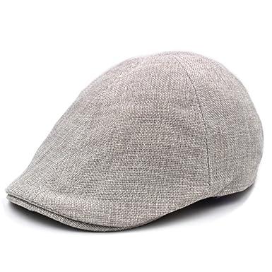 1d0d32c24f0 Elderly men summer cap  Breathable linen hat  Refreshing summer hat   Outdoor Grandpa hat  Dad hat forward-D One Size at Amazon Men s Clothing  store