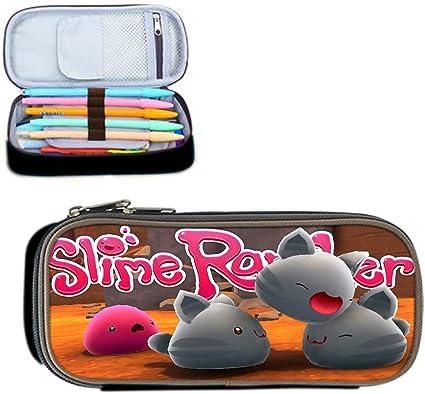 Slime Rancher pluma cremallera bolsa/caja/bolsa de maquillaje/lápiz/bolsas de papelería/Lápiz Casos: Amazon.es: Oficina y papelería