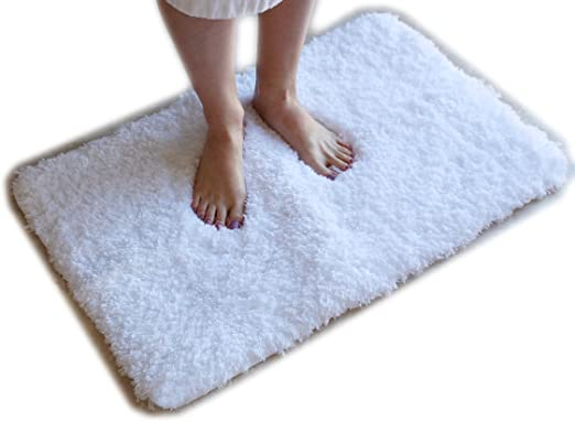 ZERO TWIST Teddy Fluffy Soft Thick Bath Mat Non Slip Water Absorbent Bath Rugs