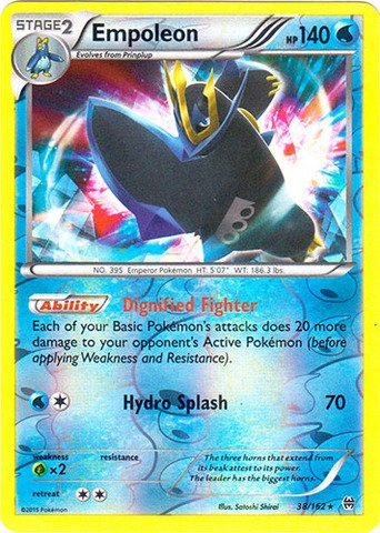 Pokemon - Empoleon (38/162) - XY Breakthrough - Reverse Holo
