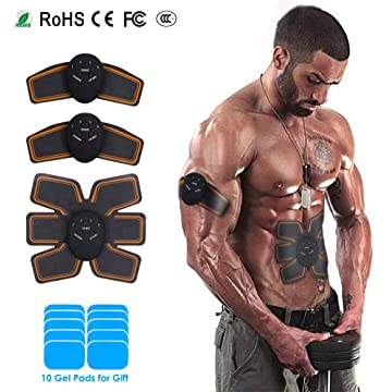 KAREEME Abdomen Muscle Toner Ultimate Abs Toning Belt for Men Women 6 Modes 10 Levels Portable Workout Abs Training Gear in The Gym Home Office Trip
