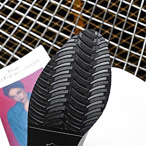 Trabajo de 4 Invierno 5 Gris Rough Felpa Artificial Puntiagudo pie PU Fiesta NVXIE Heel de Botas Negro EUR41UK758 Dedo GRAY EUR 37 del Otoño 5 UK Mujers Boca wSxSqgzCfT