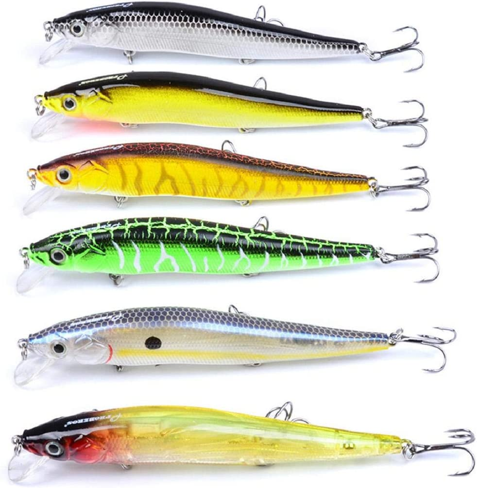 Vaycally New Fishing Lures Spinners Baits Spinner bait Spoon Set with Tackle Bag Trout Bass Salmon Pike Walleye Perch 14.47g