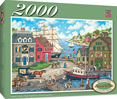 (MasterPieces Signature Series, Jigsaw Puzzle, Seagulls Delight, Featuring Art by Bonnie White, 2000 Pieces )