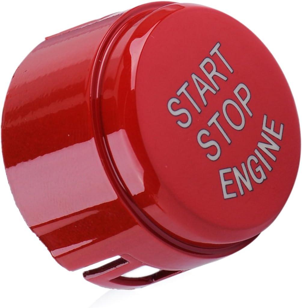 CITALL Start Stop Bouton du moteur Couvercle du commutateur Fit pour BMW 5 6 7 F01 F10 F11 F20 F21 F30