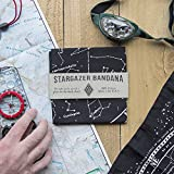 Star chart survival bandana with glow in the dark ink,100% cotton black bandana, constellation star chart, made in the U.S.A. by Colter Co.