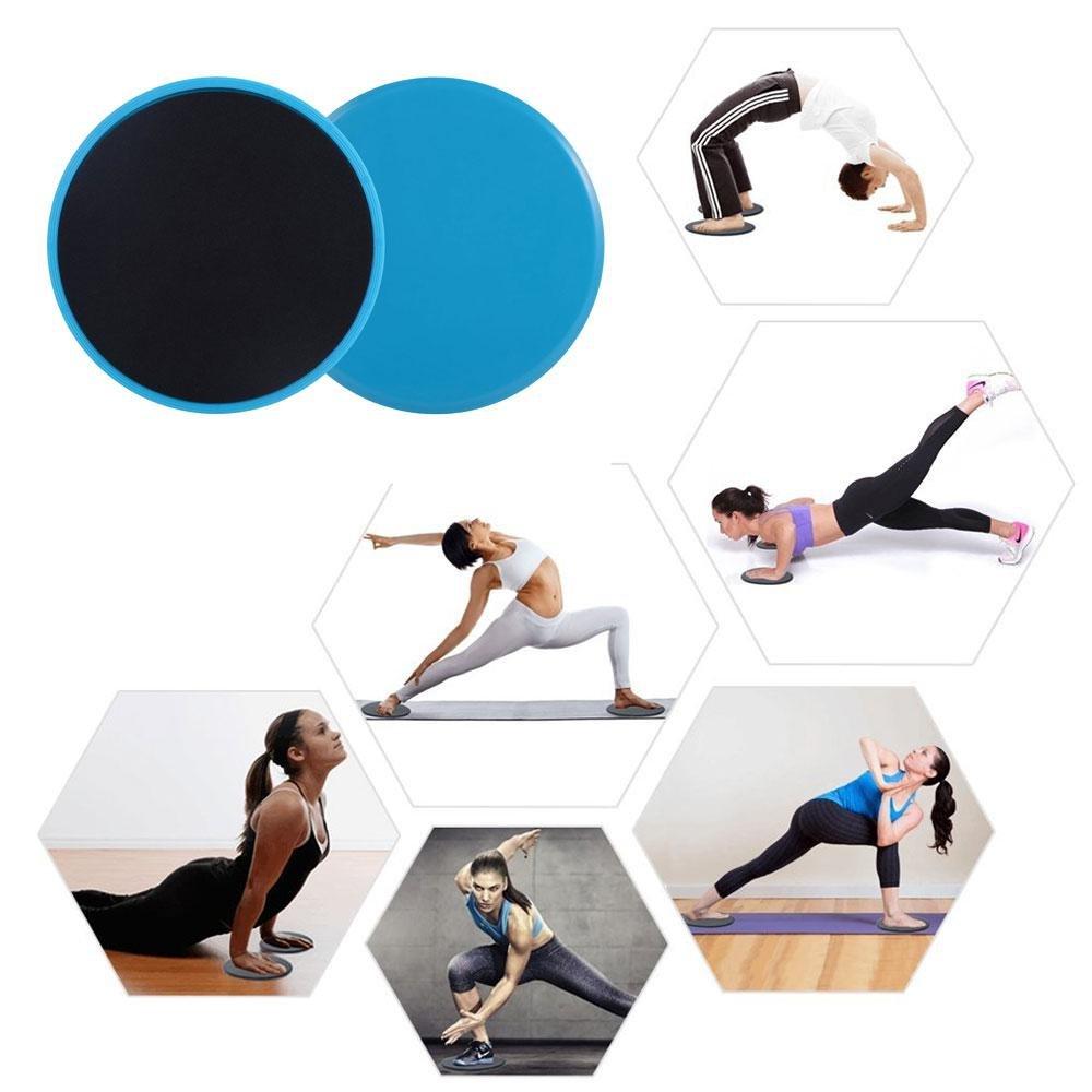 Pawaca Core Sliders Dual-seitige Gleitscheiben für Bauch-Übung Full Body Workout, Zuhause & Fitnessstudio, 1 Paar 1 Paar (Blau)